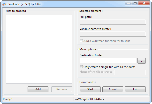 Bin2Code - Windows 7