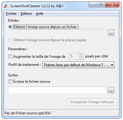 ScreenshotCleaner - French - Windows 7