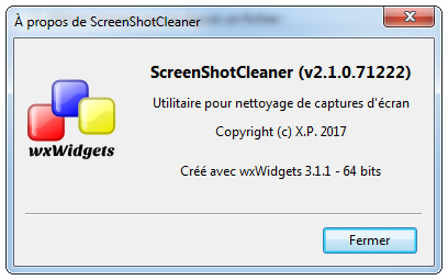 About box - French - Windows 7